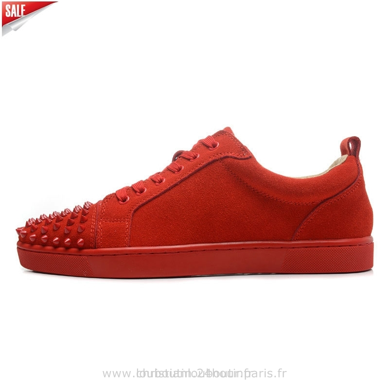 competitive price b6d38 44f4d basket louboutin homme rouge