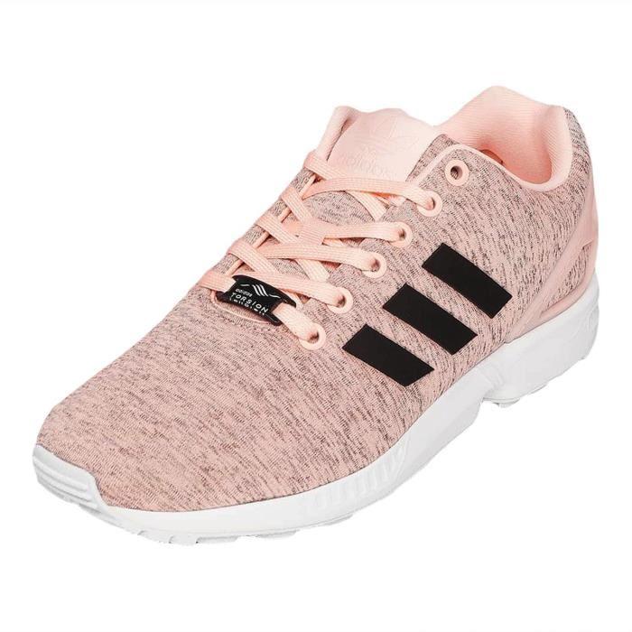 adidas zx flux fille rose